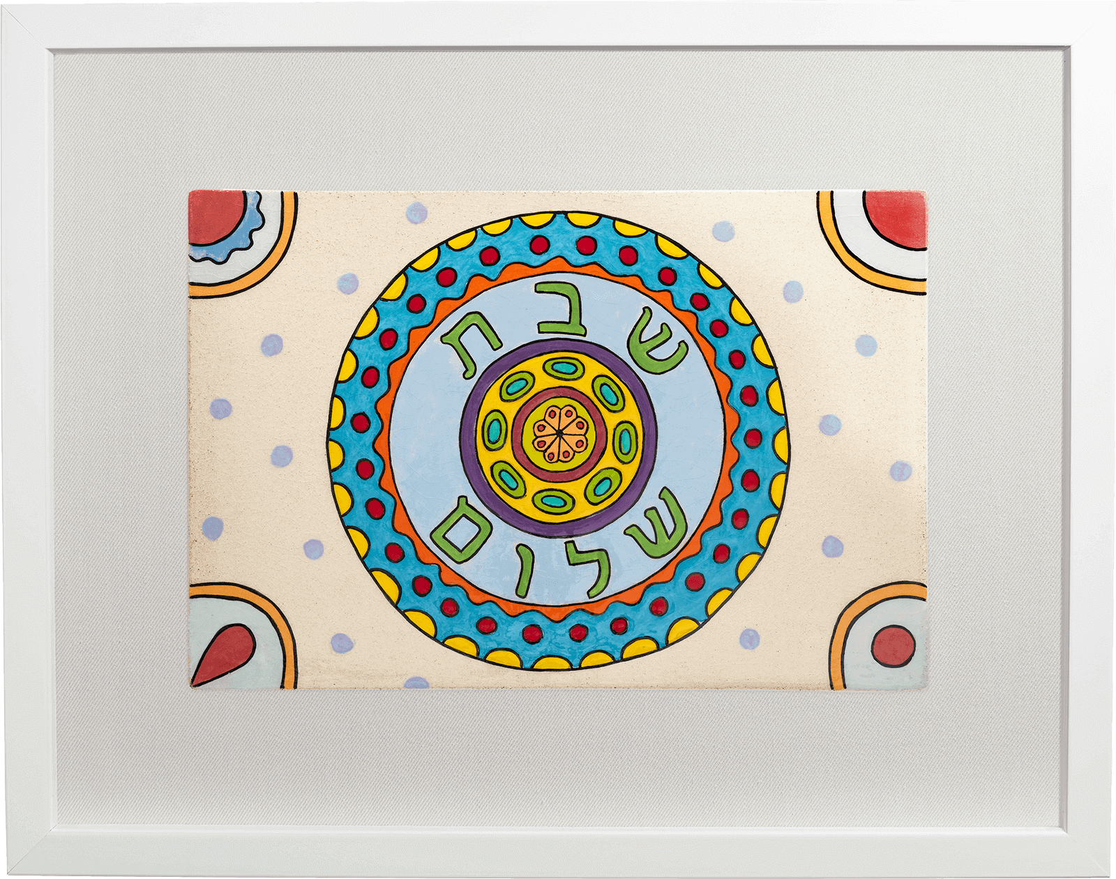 ceramic-paintings-jewish-art-Shabbat-Plate