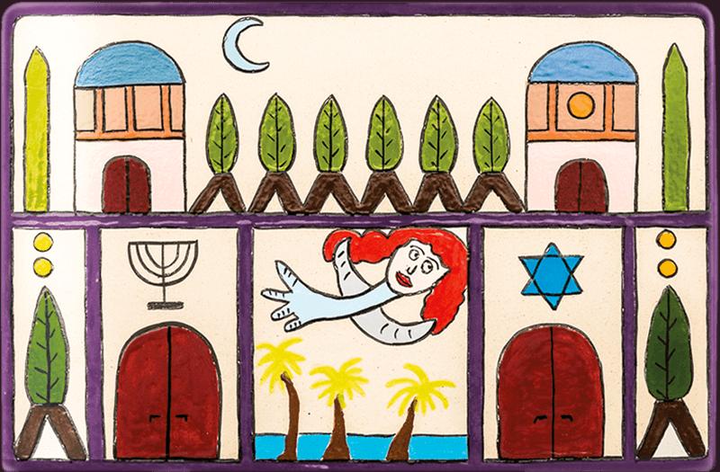 ceramic-magnets-handmade-tiles-an-angel-in-jerusalem