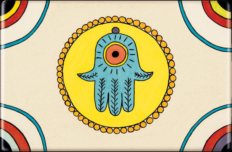 ceramic-magnets-handmade-tile-jewish-art-hamsa-it-couldnt-hurt