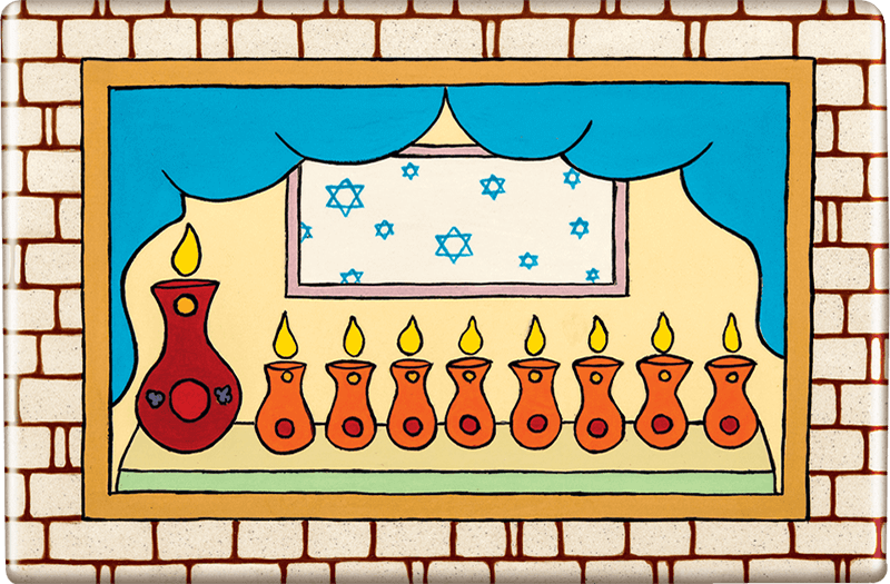 ceramic-magnets-handmade-tiles-chanukah-jerusalem-window