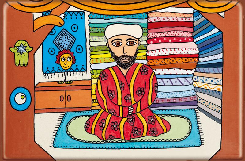 ceramic-magnets-handmade-tiles-jewish-art-la-mia-bottega