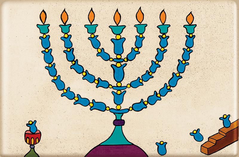 ceramic-magnets-handmade-tiles-jewish-art-menorah-night-light