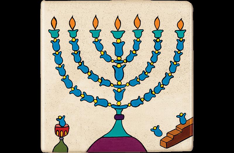 ceramic-magnets-handmade-tiles-jewish-arts-menorah-night-light