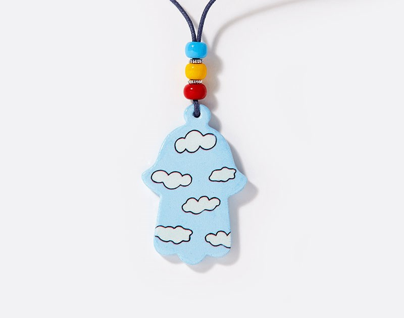jewish-art-pendant-ceramic-hamsa-puffy-clouds